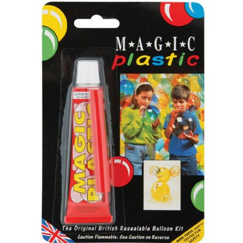 Magic Plastic Fantastic Plastic Balloon Art - 30g Tube Single Pack Assorted Colours